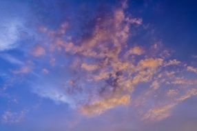 blue sky pink clouds