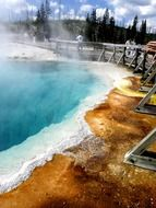 geothermal phenomena in Yellowstone National Park, Wyoming