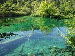 picturesque scenery of Plitvice Lakes