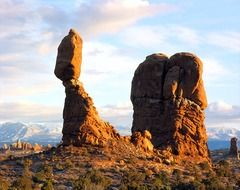 Landscape of arches national park in Utah