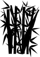 bamboo silhouette drawing