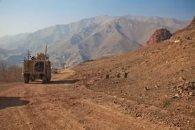 humvee in mountains in afghanistan
