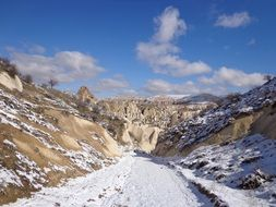 panorama of winter cappadocia