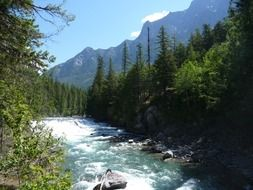 mountain river in the glacier national park