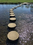 stepping stones like a path along the river
