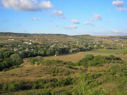 panorama of the Crimean village