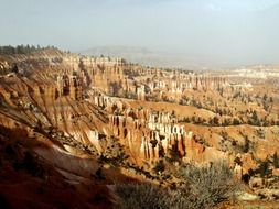 Bryce Canyon in the national park in utah