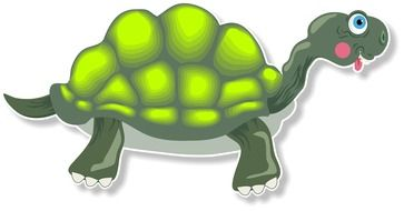 graphic drawing of a turtle