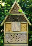 wooden house for bees as a hotel