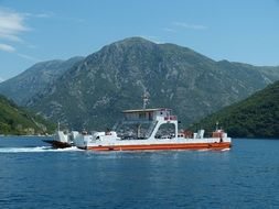 ferry off the coast of Montenegro