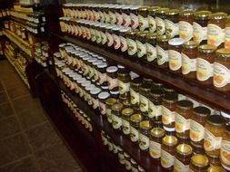 jam preserves in the country store