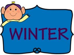 Blue winter sign clipart
