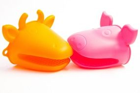 Colorful plastic animal toys