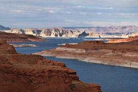 beautiful landscape of lake powell