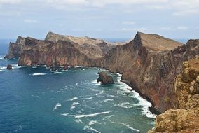 coast of the island of Madeira in Portugal