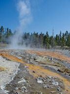 mineral hot pool in the yellowstone national park