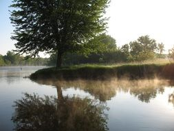 river in the morning