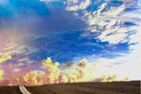 heaven mood horizon clouds sky wide