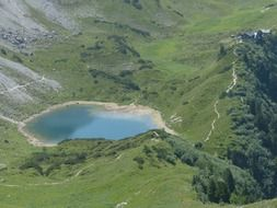 little lake in the alps