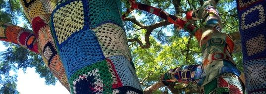 tree in crochet patchwork