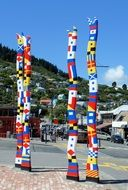 Colorful sculptures in New Zealand