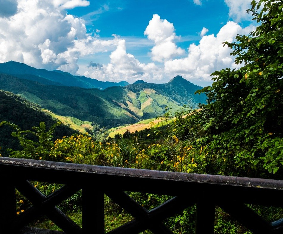 landscape of north Thailand mountain