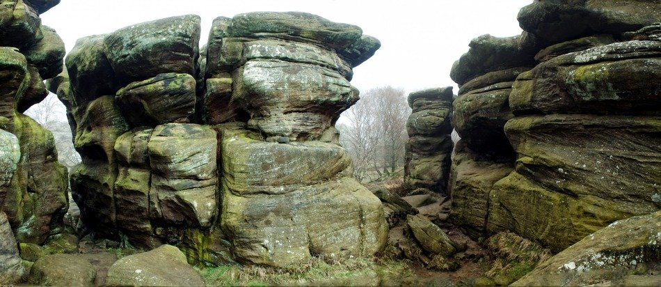 Natural shapes of historic rocks in brimham