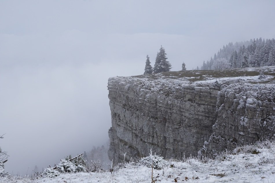 creux du van in winter