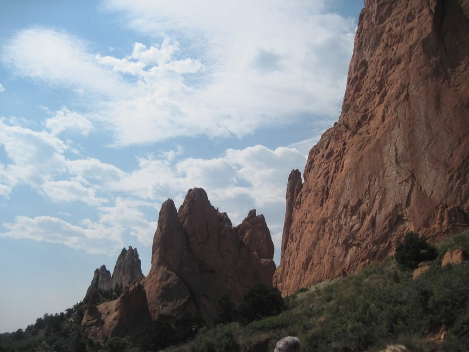 garden of the gods in colorado against the sky