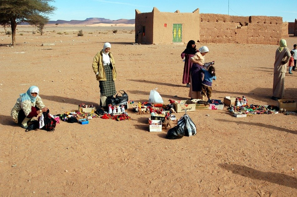 Trade in the desert of Morocco