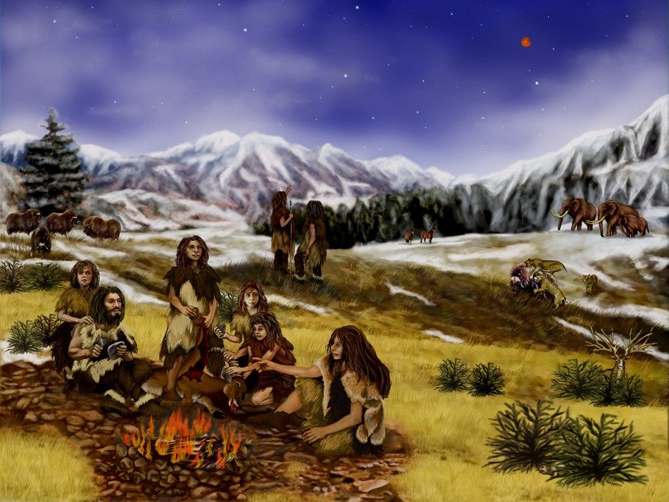 image of neanderthals in the highlands
