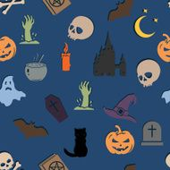 Vector Seamless Halloween Pattern N4