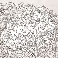 Music hand lettering and doodles elements background N3