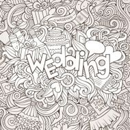 Wedding hand lettering and doodles elements sketch N2