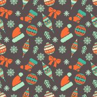 Holiday vintage Christmas seamless pattern