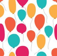 Vector party baloons pattern