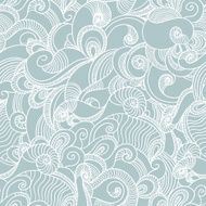 Seamless wave hand drawn pattern Abstract background N3