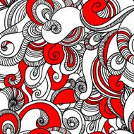Seamless wave hand drawn pattern Abstract background N4