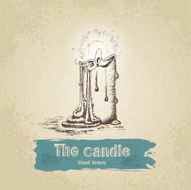 Hand drawn candle N3