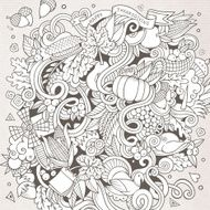 Cartoon vector hand-drawn Doodle Thanksgiving N2