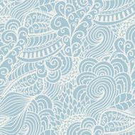 Seamless abstract hand-drawn waves pattern wavy background Sea