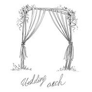 Wedding arch Decoration Vector sketch Design element