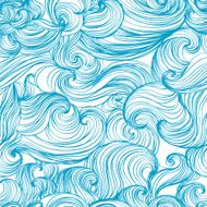 Waves and curls background