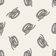 Rope doodle seamless pattern background N2