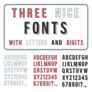 Hand Drawn Font Set Handwriting Alphabet ABC with Digits Vect N2