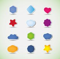 Colorful Labels Tags Speech Bubbles Icons