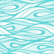Abstract hand drawn illustration waves background