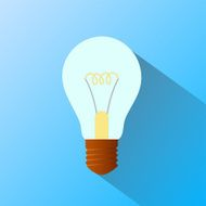 incandescent lamp Flat graphics