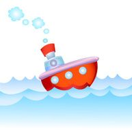 Cartoon steamship N2