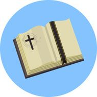 Vector Open Bible Flat Illustration